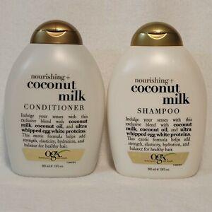 1 Set OGX Organix Shampoo & Conditioner COCONUT MILK 13 oz ea Color Safe