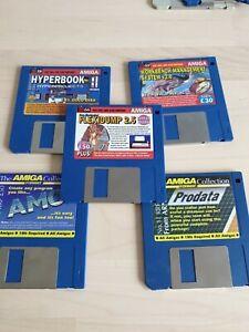 Bundle of 5 amiga software packages.  Flexidump 2.5, hyperbook, prodata and more