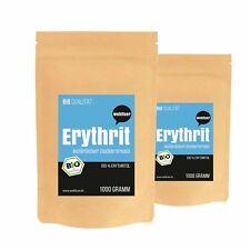 15€/kg - Wohltuer BIO Erythrit Zucker Süßstoff ohne Kaloien (2 x 1000g SPARSET)