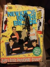 ~1989 Topps New Kids On The Block Trading Cards Unopened Box Sealed 35 Packs~
