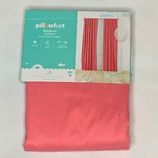 pillowfort twill blackout curtain panel pink new