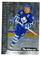 2016-17 UD Parkhurst CENTENNIAL SALUTE DOUG GILMOUR Maple Leafs QTY AVAILABLE