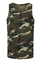 NEW Men Army Camo Tank Top Sizes S-3XL Camouflage Shirt Military Colors