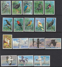 SAMOA : 1988-98  Birds definitives set SG788-803 inc 797a MNH