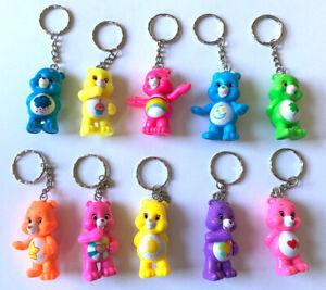 10 x Care Bear Keyrings / Keychains - TCFC - Hard Plastic - Lot Bundle