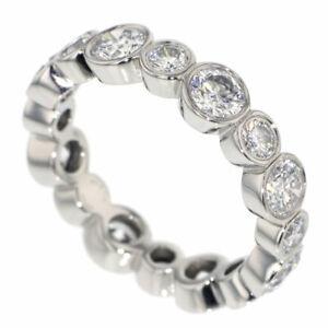 "Tiffany Pt950 Diamond Ring Jazz Full Circle # 10.0 ""SELBY Ginza Boutique""【S+Poli"