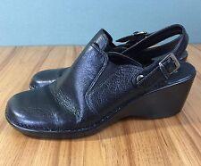 "Easy Spirit Sz 7 Black Leather Slingback Shoes ""Risatas"" Comfort Style Womens 7M"