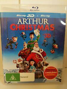 Arthur Christmas 3D Bluray Free Postage