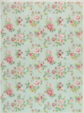 Rice Paper for Decoupage Scrapbook Craft Sheet-  Shabby Roses large