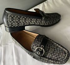 Coach Emery Women Flat Shoes  Leather Size 6 B Loafers Buckle Strap