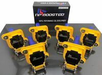 6 Pack 98-05 Ignition Coil Packs Turbocharged Audi S4 A6 Allroad Quattro V6 2.7L