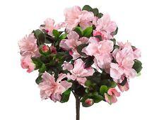 "14"" Water-Resistant Azalea Bush x7 PINK (Pack of 6) Artificial Flower Silk"
