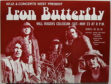 IRON BUTTERFLY Will Rogers Coliseum 1970 US ORG CONCERT Flyer MINT Psych TEXAS