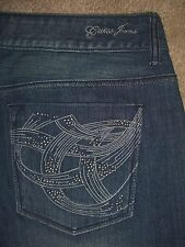 GUESS JEANS Flare Stretch Denim Jeans Womens Size 32 x 30.5 Studs Pockets