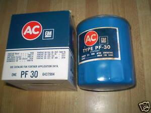 1960-77 CADILLAC GM AC-GM OIL FILTER NOS IN BOX PF-30 ORIGINAL GM FILTER