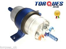 Bosch 044 Fuel Pump + Billet Cradle + Push On Fittings 15mm Input / 8mm Output