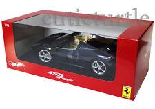 Hot Wheels Ferrari 458 Spider Italia 1:18 Diecast Dark Blue X5529