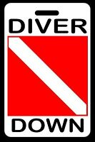DIVER DOWN SCUBA Diving Luggage/Gear Bag Tag - New