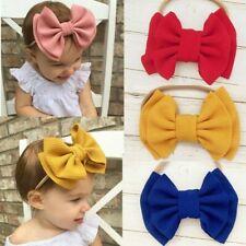 Baby Girls Boy Solid Big Bow Knot Wide Headband Turban Headwrap Hair Accessories