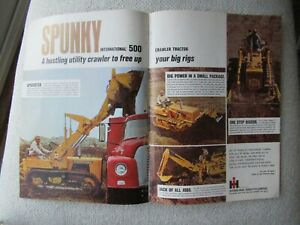 1967 IH International 500 tractor print AD brochure 2 pages