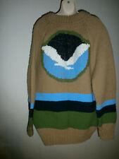 Vintage Cowichan Sweater Jacket Sz L