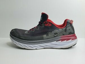 Hoka One One Clifton 5 Men's Running Shoes Sz 13 2E Wide Grey/Red Comfort Shoes