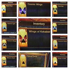 Diablo 3 ailes 13 cosmétiques Wings Patch 2.6 Cosmic-Dark Bat-Kokabiel-PS4