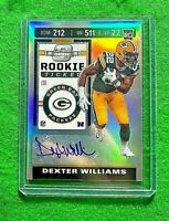 DEXTER WILLIAMS PRIZM AUTO ROOKIE TICKET CARD PACKERS 2019 CONTENDERS OPTIC RC