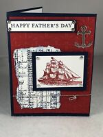 Handmade - Father's Day, Happy Birthday, Thank You Nautical Stampin'UP!- Kit (4)