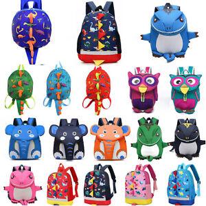 Cute Cartoon Baby Toddler Kids Dinosaur Safety Harness Strap Bag Backpack Travel