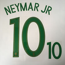 Brasil Neymar Jr Camiseta De Fútbol Nombre Número De Impresión Conjunto de transferencia de calor 2016 Euro