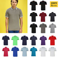 Asquith & Fox Men's Classic Fit Tipped Polo AQ011 - Smart/Casual top |S-3XL