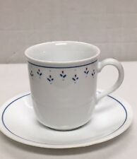 Corelle Normandy Red White Blue Floral Cup Mug Saucer Set Discontinued Pattern