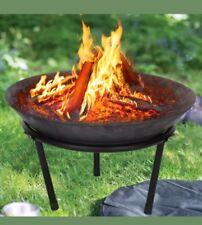 LARGE Cast Iron Fire Bowl Firepit Modern Stylish Fire Pit Garden Outdoor Steel