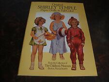 Shirley Temple-Paper Dolls-Dover-1988-Un-Cut-9 x12