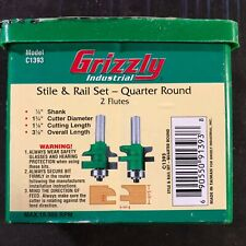 Grizzly C1393 Carbide Tipped Quarter Round Stile & Rail Set with 1/2-Inch Shank