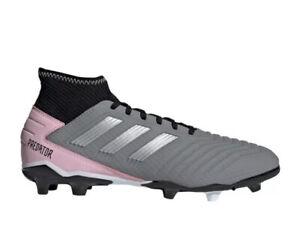 Adidas Women's Predator 19.3 FG Soccer Cleats Size 11 Grey/pink/black F97528