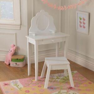 KidKraft Medium Vanity & Stool for girls- White  RRP £210