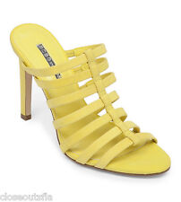 BCBG BCBGeneration Size 7 Yellow Heels Leather New Womens Shoes