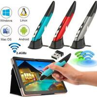 2.4GHz Wireless Optical USB Pocket Drawing Write Pointing Pen Air Mouse Mice PC