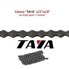 "Catena ""TAYA"" 1 Velocità 112 Maglie Nera per bici 20-24-26 Tipo BMX - Freestyle"