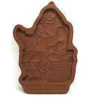 Vintage 1992 Longaberger Pottery SANTA CLAUS Cookie Mold