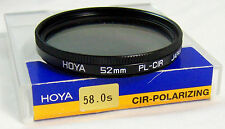 Vintage EUC Hoya 52mm PL-Cir Japan Circular Polarizer Filter FREE SHIPPING U.S.A