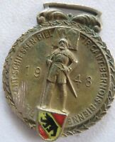 1948 Vintage huguenin le locle Shooting Medal depicting Flag Weapons Images