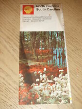 VINTAGE 1971 Shell Oil Gas North South Carolina State Highway Road Map Raleigh