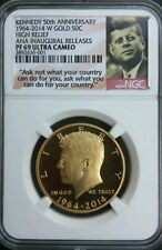 2014 W Gold Kennedy Half 50¢ Anniversary NGC Proof 69 Chicago ANA Release+Box