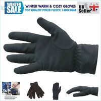 Womens Mens Lined Winter Thermal Fleece Warm Cozy Soft Driving GLOVES Outdoor UK
