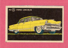 Ford Lincoln Vintage 1950s Car Collector Card from Sweden