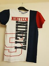 Boys white, blue & red t-shirt by matalan age 12yrs