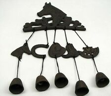 Horse  Wind chime Cast Iron With Boots, Saddles, Hats Western Decor